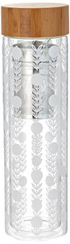 Pinky Up 7721 Blair Garden Party Glass Travel Infuser Mug Up ()