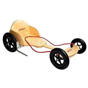 Kiddimoto Kids Boxkart Wooden Go Kart Natural Amazon Co