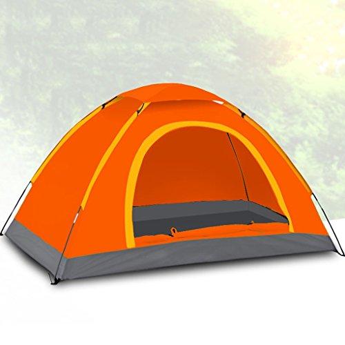 治す支出家事をするテントの家庭2人家族キャンプ野生のキャンプテントセット のテント (色 : スイカの赤)
