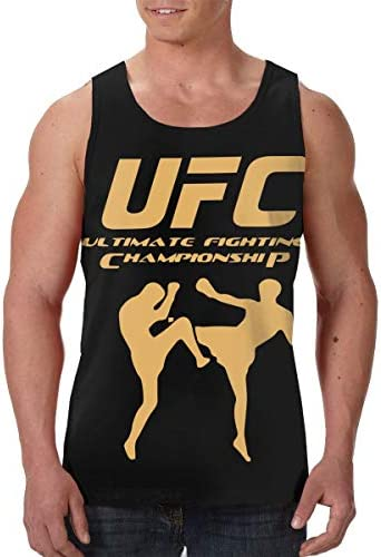 Ufc Mma 男性用 アスレチック 速乾 袖なしクタンク Tシャツ ジム用