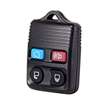 Universal Black Replacement 4 Button Keyless Entry Remote Control Car Key Fob Clicker Transmitter for Ford