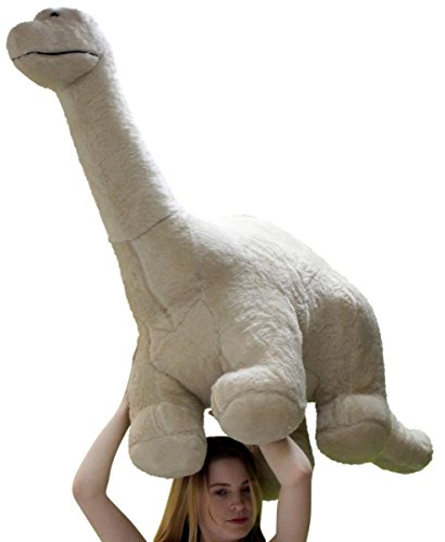 American Made Big Plush Dinosaur Giant Stuffed Brontosaurus 4 Feet