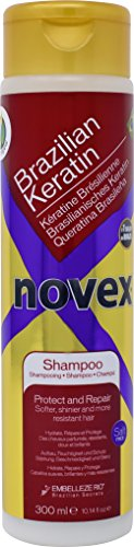 Novex Brazilian Keratin Shampoo 10 oz Keratin Treatment Safe Daily Shampoo for Smoothing, Straightening, Strengthening and Moisturizing All Hair Types with Keratin. Good For Men and Women