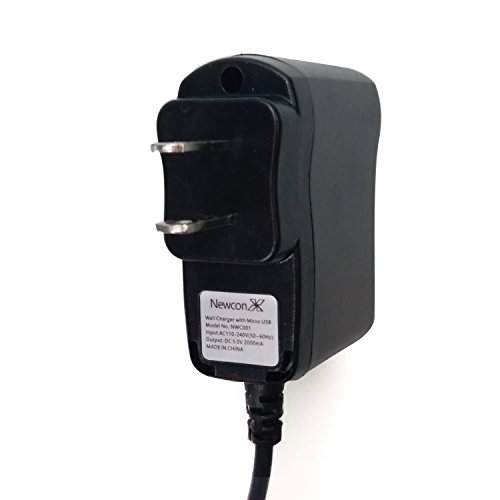NEWCONX Wall Kindle Charger with 3Ft Cord,DC5V2000mA - Compatible with ALL Micro USB devices-Amazon Kindle Fire, Fire HD 6, HD 7, HDX 8.9, Paperwhite, Voyage and more!