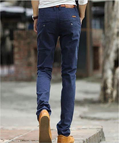 Pour Pantalons Cone Banquets Business Style Simple Marineblau Slim Hommes Outdoor Travel Fitness Décontractés Nvfshreu FwEWqdff