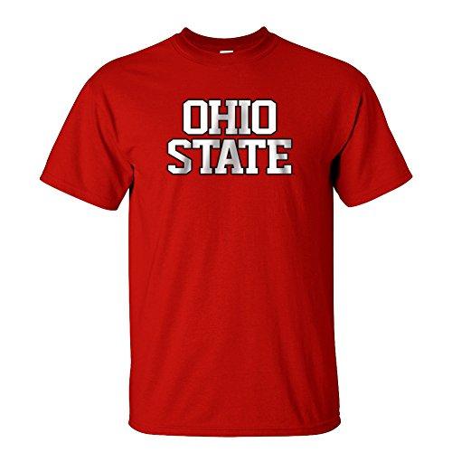 - Elite Fan Shop Ohio State Buckeyes Bold Block Tshirt Red - L