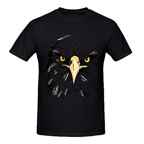 100% Cotton Black Mens Summer Fashion DIY Tops Tees Short Sleeve T Shirt Man Eagle Style O Neck Casual T Shirt