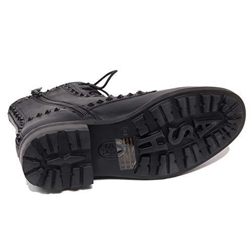 Shoe Donna Borchie F5518 Ash Wolf Boot Woman Nero Anfibio Scarpe Black 05AxZf