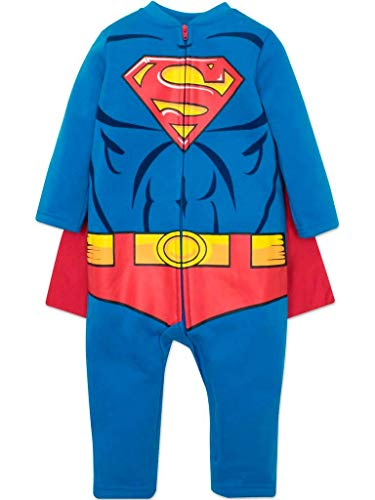 Warner Bros. Justice League Superman Toddler Boys Hooded Costume Coverall & Cape (4T) -