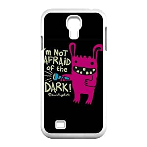 Samsung Galaxy S4 9500 Cell Phone Case White David & Goliath Not Afraid of the Dark SUX_156338