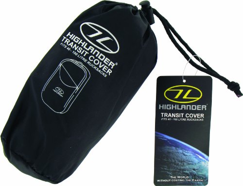 415jDUs3ZbL - Highlander Waterproof Unisex Outdoor Travel Rucksack Transit Cover available in Black - One Size