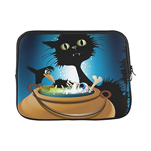 Design Custom Halloween Magic Animals Sleeve Soft Laptop Case Bag Pouch Skin for MacBook Air 11