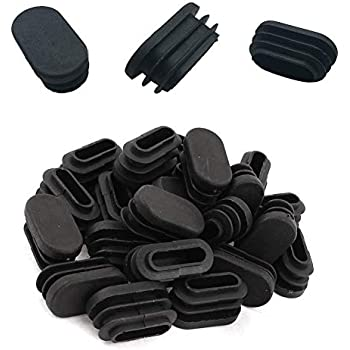 Luckycivia 100 Pack Oval Tubing End Cap Plastic Chair