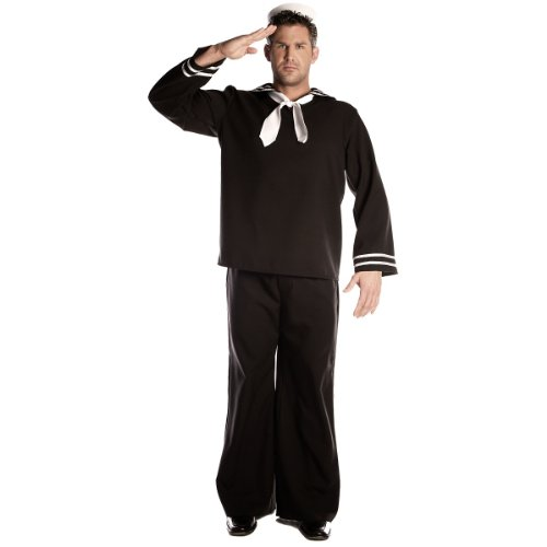 [Sailor Costume - One Size - Chest Size 42-46] (Nice Sailor Costumes)