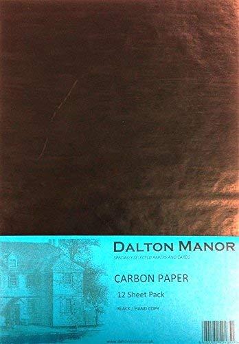 A4 Carbon Paper 12 Sheet Pack Colour - Black