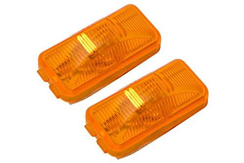 90-97 Ford F150 F250 F350 Amber Orange Rear Side Marker Lights OEM - Side Light Marker Rear 91