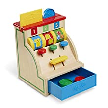 Melissa & Doug Spin & Swipe Wooden Cash Register (Developmental Toy, Great Gift for Girls and Boys - Best for 3, 4, 5, and 6 Year Olds)