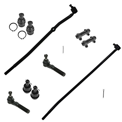 Front 10 Pc Steering Suspension Ball Joint Tie Rods Kit Set for Dodge Ram 1500 Truck Ram 2500 Truck
