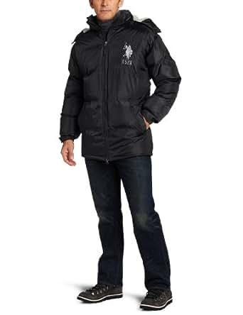U.S. Polo Assn. Men's Signature Bubble Jacket, Black, Small