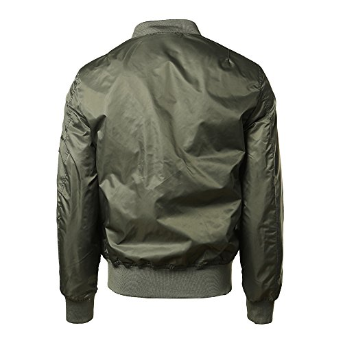 Winter UJUNAOR Zipper Spring Green Slim Jacket Solid Men Outwear Halloween Bomber Autumn Casual TqZaIq4