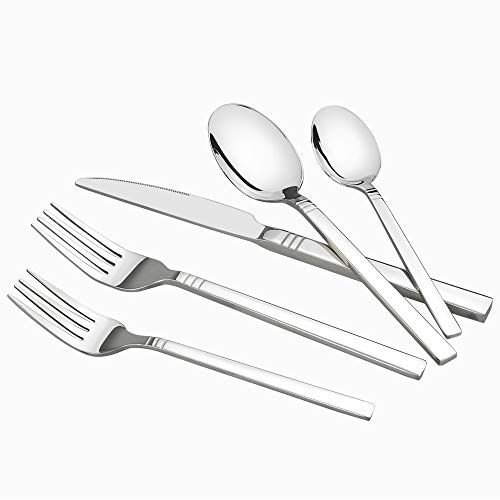 Nicesh 60-piece Stainless Steel Flatware Set, Service for 12