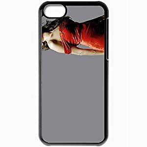 Personalized iPhone 5C Cell phone Case/Cover Skin Angelina Jolie Black by supermalls