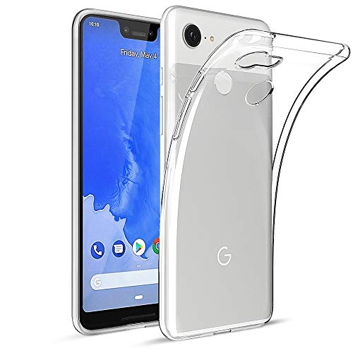 HiZiTi Google Pixel 3 XL Case, Thin Ultra-Slim Fit Crystal Clear Transparent Flexible TPU Phone Case Cover Compatible for Google Pixel 3 XL - Transparent Clear