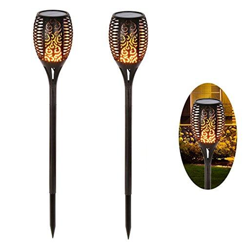 Ideapro 96-light Solar Deck, Walkway & Path Lights - Landscape Lighting in Black (set of 2) by Ideapro
