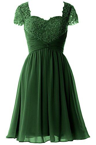 Dunkelgrun of Dress Sleeve Lace Women Bride Gown MACloth Formal Cap Party Mother Short P7nxFBp