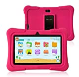 Pritom 7 inch Kids Tablet  Quad Core Android,1GB RAM+16GB ROM  WiFi,Bluetooth,Dual Camera  Educational,Games,Parental Control,Kids Software Pre-Installed with Kids-Tablet Case (Pink)