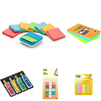 Post-It - Dispensador de notas VAL-B8P + Pack de 3 blocs de