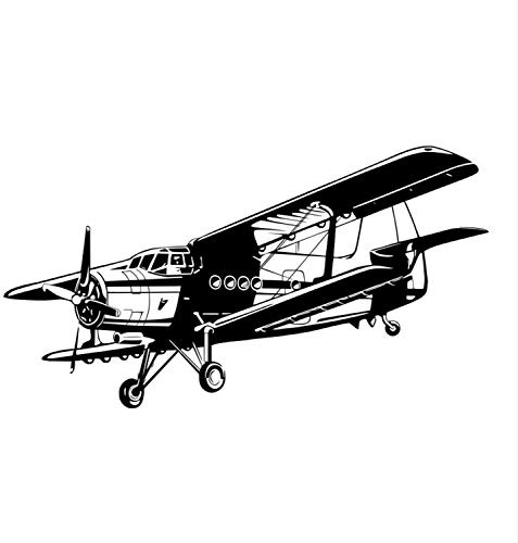 Military Aviation Aircraft DIY for Boys Bedroom Air Force Applique Baby Nursery Living Room Wall Decals Decor Vinyl Sticker Q10256