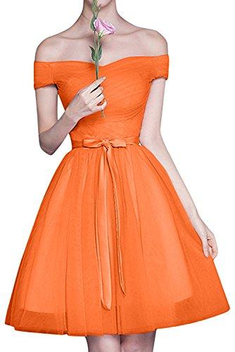 A Brautjungfernkleider Linie Braut mia Rock Cocktailkleider Tuell Rosa La Orange Schulterfrei Mini Abendkleider ACzwq0WfUx