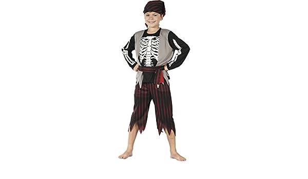 DISONIL Disfraz Pirata Esqueleto Niño Talla XL: Amazon.es ...