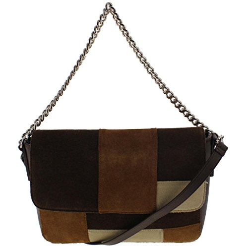 Giani Bernini Womens Leather Suede Crossbody Handbag Brown Large Bernini Womens Handbag