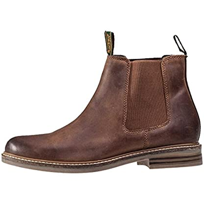 Barbour FARSLEY Chelsea Boots Dark Tan 5
