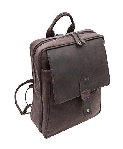 Wombat Leather - Bolso mochila para mujer Marrón marrón 34 z 27 z 11 cm