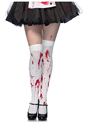 Leg Avenue Women's Bloody Zombie Thigh High Hosiery