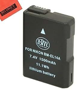 BM Premium ENEL14, EN-EL14, EN-EL14A Battery for Nikon Coolpix P7000, P7100, P7700, P7800, D3100, D3200, D3300, D5100, D5200, D5300, D5500, DF Digital SLR Camera + More!!