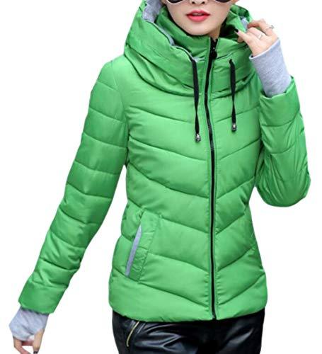EKU Womens Lightweight Hooded Quilted Winter Puffer Outwear Down Coat 2
