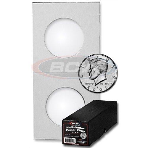 100 Ct. BCW Premium Half Dollar Coin Holders with BCW Storage Box