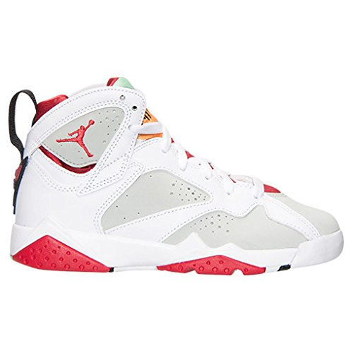 Nike Air Jordan 7 Retro BG Zapatillas de baloncesto, Niños Blanco / Rojo / Plateado (White / True Red-Lght Slvr-Trmln)