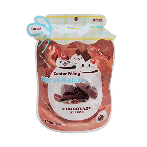 Marshmallow with Center Filling 100g (Chocolate, 1 Pack)