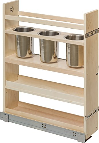 (Century Components CASCAN55PF Kitchen Base Cabinet Pull-Out Canister Organizer - 5-7/8