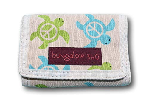 Bungalow 360 Trifold Vegan Wallet (Sea Turtle)