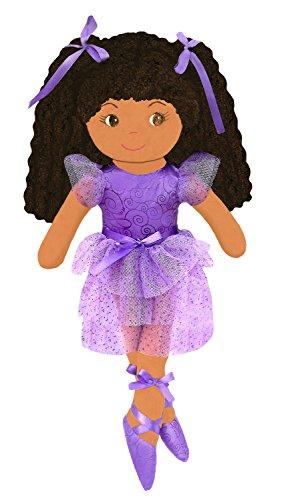 GirlznDollz Elana Sparkle Ballerina Doll, Purple/Brown
