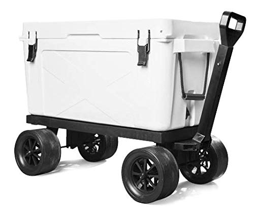 le Rolling Cooler Cart Carrier on Wheels | Extendable Wagon with 600 Pound Weight Capacity to Haul Any Ice Chest | Includes 2 Year Warranty ()