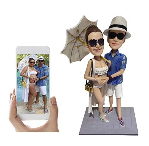 Custom Pregnant Mom Bobblehead Personalized Wedding Gifts Baby Shower Gift, Two People, DHL Expedited Shipping Service (2 Bobble Head Custom)