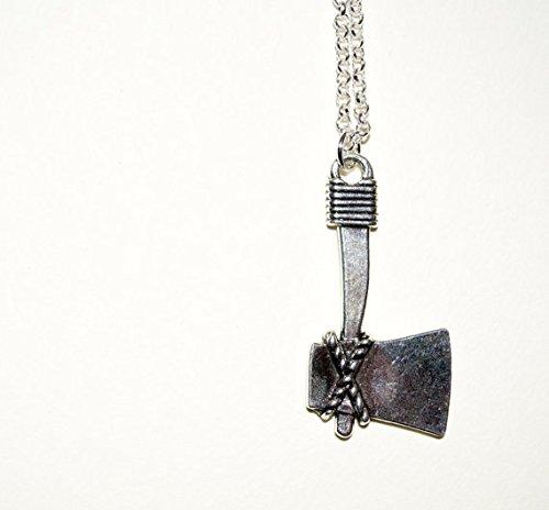 Island Chopper (Axe Necklace, Chopper Necklace, Silver Axe Charm Necklace, Woodcutter Necklace, Axe Pendant, Hunter Necklace)