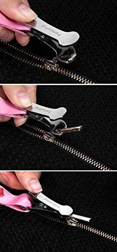 Premium Zipper Puller Dress Zipper Helper Easy to use Zipper Assistant, Zip up Dress and Boots by Yourself, Unique Mushroom Head Design Works on Multiple Zipper Types (Black Lanyard)